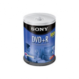 Sony DVD+R - 16X, 4.7GB Spindle - 100 Pack