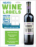 Blank Wine Labels - High Gloss - Water Resistant - White - For Inkjet Printers - 40 Labels - 10 Sheets