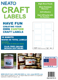 """Blank Craft Labels - High Gloss, Vinyl, Water Resistant, 2"""" X 3"""" - 10 Sheets - 80 Labels"""
