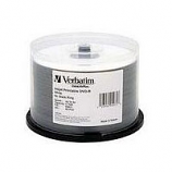 Verbatim DVD-R 16X 4.7GB White Hub Printable-50 Pack